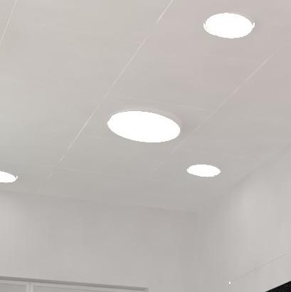 basis led verlichting, richtbaar, systeemplafond, ral 9016, clip-in