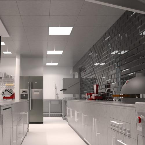 Basic LED modules. 3000K, opale cover, policarbonaat, clip-in 600x600
