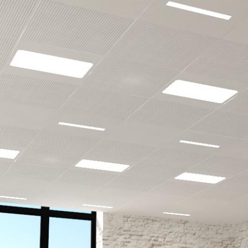 Squircle, light, metal ceiling, metalen systeemlafond, verlichting, Stoal